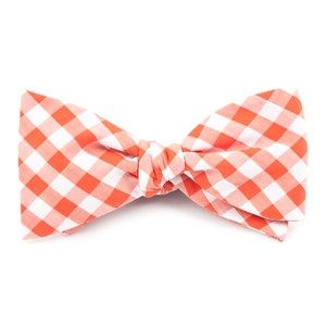 classic gingham orange bow ties