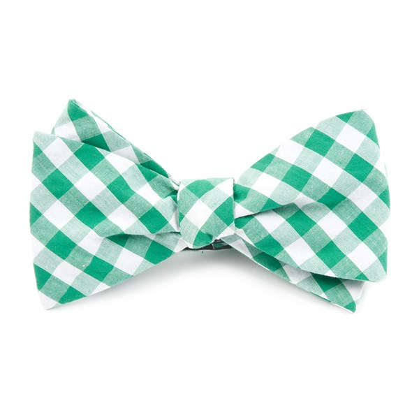 Kelly Green Classic Gingham Bow Tie