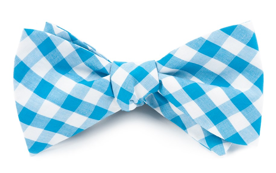 87c4320329ff Turquoise Classic Gingham Bow Tie | Ties, Bow Ties, and Pocket ...