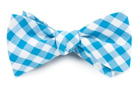 BOW TIES - CLASSIC GINGHAM - TURQUOISE