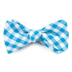 classic gingham turquoise bow ties