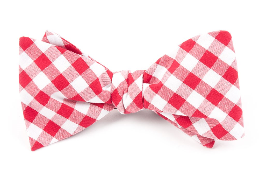 Red classic gingham bow tie ties bow ties and pocket squares red classic gingham bow tie ccuart Image collections