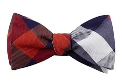 BOW TIES - COURTSIDE CHECK - RED