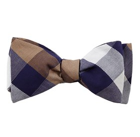 Courtside Check Blue Bow Ties