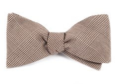 Bow Ties - COTTON GLEN PLAID - BROWN