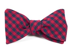 Bow Ties - GINGHAM SHADE - Apple Red