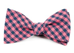 Bow Ties - GINGHAM SHADE - Salmon Pink