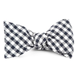 Midnight Navy Gingham Shade bow ties