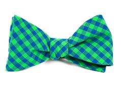 Bow Ties - GINGHAM SHADE - Apple Green