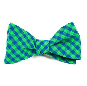 Apple Green Gingham Shade bow ties