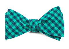 BOW TIES - GINGHAM SHADE - CARIBBEAN TEAL