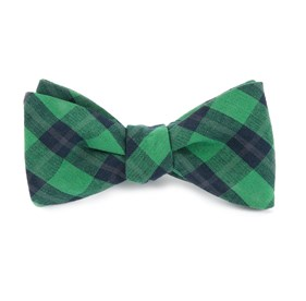 Green Streetwise Check bow ties