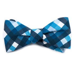 Acoustic Check Blue Bow Ties