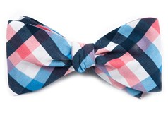 BOW TIES - ACOUSTIC CHECK - PINK