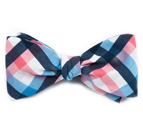 Pink Acoustic Check bow ties
