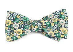Bow Ties - Floral Level - Navy
