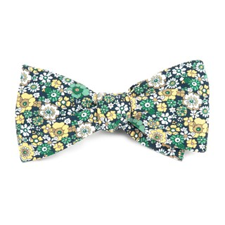 floral level navy bow ties
