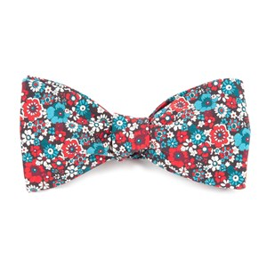 floral level red bow ties