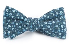 Bow Ties - Corduroy Dahlias - Navy