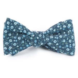 corduroy dahlias navy bow ties