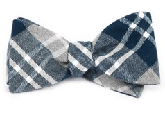 Bow Ties - Bradenburg Plaid - Teal