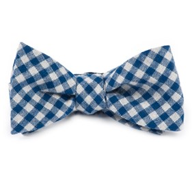 Stein Checks Royal Blue Bow Ties