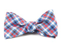 Bow Ties - Central Station Checks - Light Cornflower