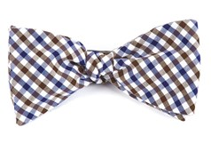 Bow Ties - Fair-and-square Gingham - Brown