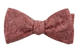 Bow Ties - Floral Trace - Washed Red