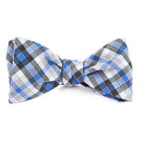 Grey Steel Checks bow ties