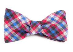 Bow Ties - Steel Checks - Apple Red