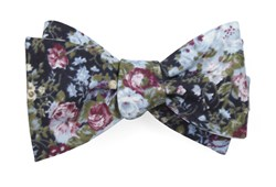 Bow Ties - Heirloom Floral - Black