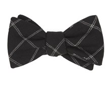 BOW TIES - PLAID GRAPH - BLACK