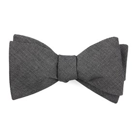 Speedway Solid Charcoal Bow Ties