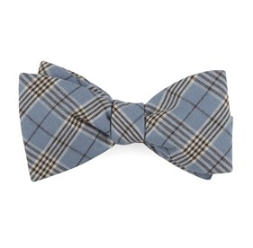 Powder Blue Newton Plaid bow ties