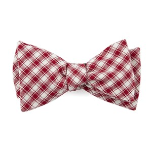 mesh plaid red bow ties