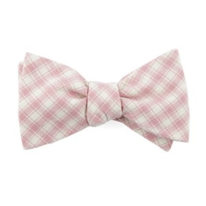 mesh plaid baby pink bow ties