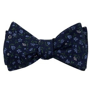 floral acres navy bow ties