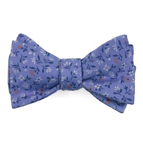 Light Blue Floral Acres bow ties