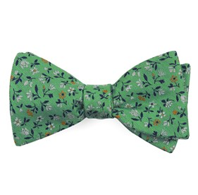 Mint Floral Acres bow ties