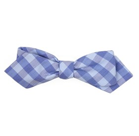 Light Blue Old City Checks bow ties