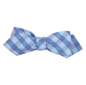 Teal Old City Checks bow ties