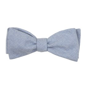 Light Blue Foundry Solid bow ties