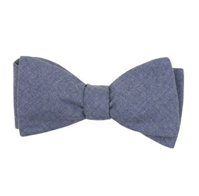 Warm Blue Foundry Solid bow ties