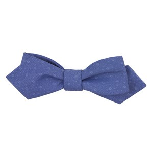 district medallion classic blue bow ties