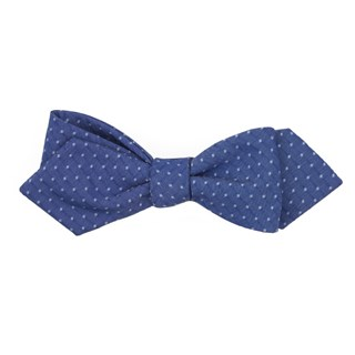 district dots navy bow ties