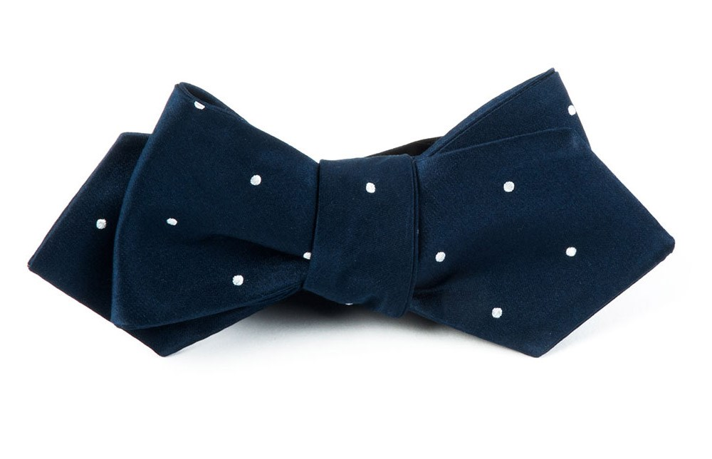 History of 1920s Mens Ties, Neckties, Bowties Satin Dot Bow Tie $19.00 AT vintagedancer.com