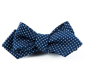 Navy Pindot bow ties