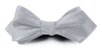 BOW TIES - SOLID SATIN - SILVER