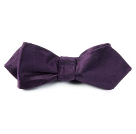 Eggplant Solid Satin bow ties